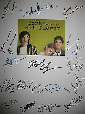 The Perks of being a Wallflower Signed Script Emma Watson Ezra Miller Lerman RPT