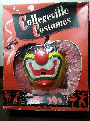 Vintage Collegeville Costumes CIRCUS CLOWN #200 S Childs Small Halloween CIB