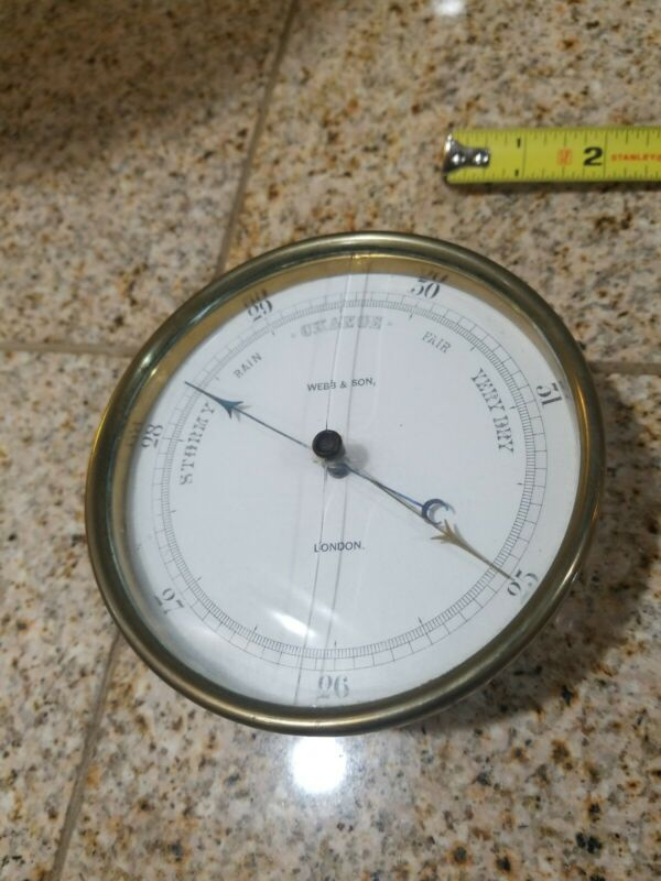 WEBB And Son Holosteric Barometer BRASS SHIP LONDON ENGLAND