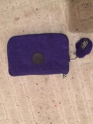 kipling new money purse Purple With Mary Keychain