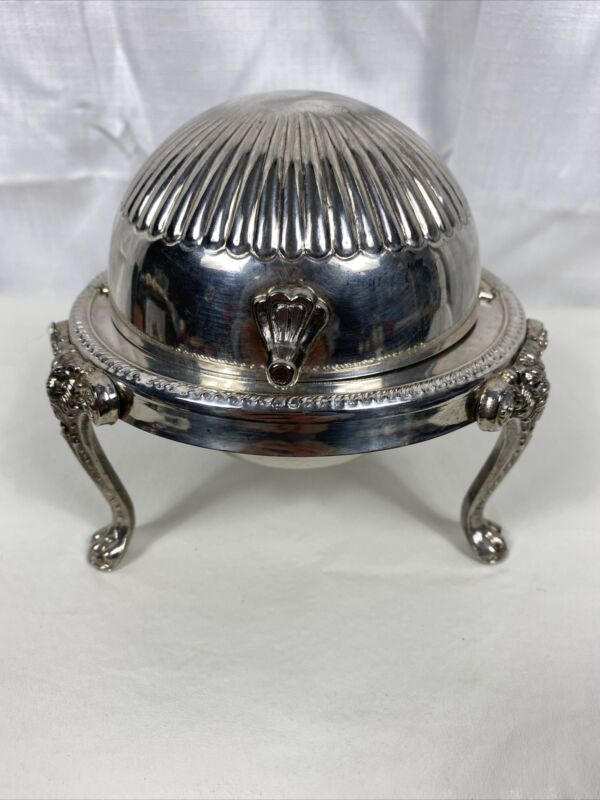 Vintage Silver Plated Silver Bowl / Butter Dish/ Trinket Box