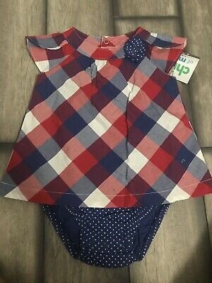 Baby Girls Plaid Dress Carter's Size 6-9 Months NWT
