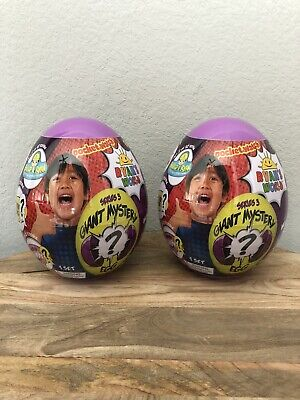 Two NEW Ryan's World Giant Mystery Eggs Series 3 (Purple)