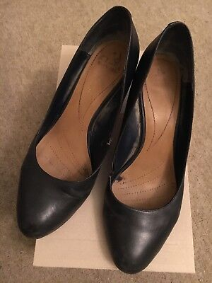Ladies worn Navy Blue Cabin Crew Attendant  Hostess high heel Shoes Size 7