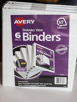 Avery® Durable View Binder, Slant Rings, Letter, 1/2