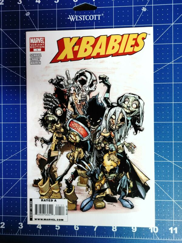X-Babies #1 Humberto Ramos 1:25 Marvel Zombie Variant 2009 NM