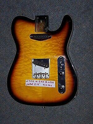 Quilted Maple Fender Spec Telecaster Loaded Body Alnico 5 Neck & Bridge