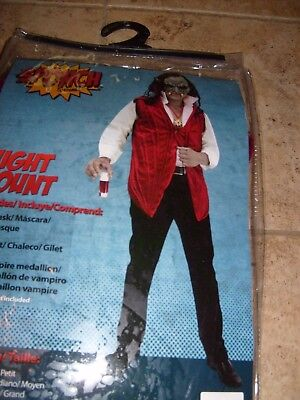 VAMPIRE EVIL COOL COUNT DRAC ADULT HALLOWEEN  COSTUME MENS SIZE L/M