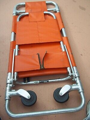 Ferno Washington Stretcher 2 Wheels Ambulance Cot Rolling Folding Chair