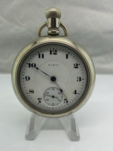 1904 Elgin 218 Model 5 Class 63 18S 15J Silverode Pocket Watch (V19)