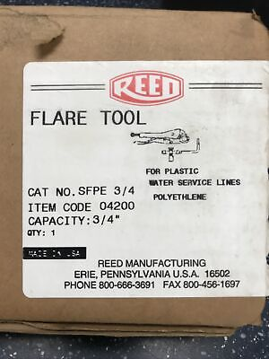 Reed Flare Tool Cat. No. Sfpe 34 Item 04200 Polyethylene Made In Erie Pa Usa