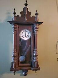 R&A  Antique German wall clock, Walnut wood 1900s