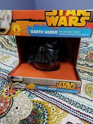 Darth Vader Star Wars Disney 2 Piece Halloween Mask Costume In Box Molded Adult - 2 Piece Halloween Masks