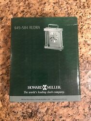 Howard Miller Audra 645-584 Brass Table Clock - New in Box