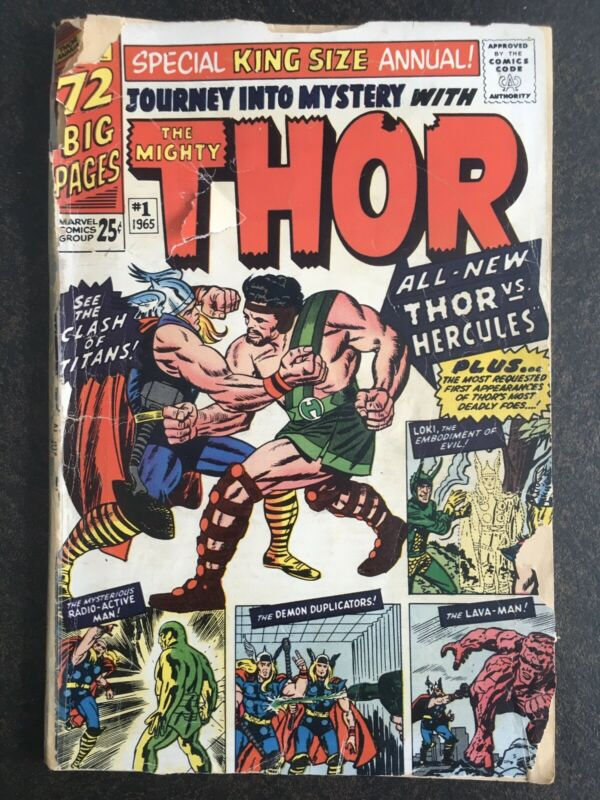 Journey Into Mystery Annual #1 1st Hercules Zeus Thor King Size 1965 Lee Kirby🔥