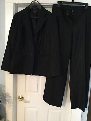 Anne Klein Suit Size 14w Black