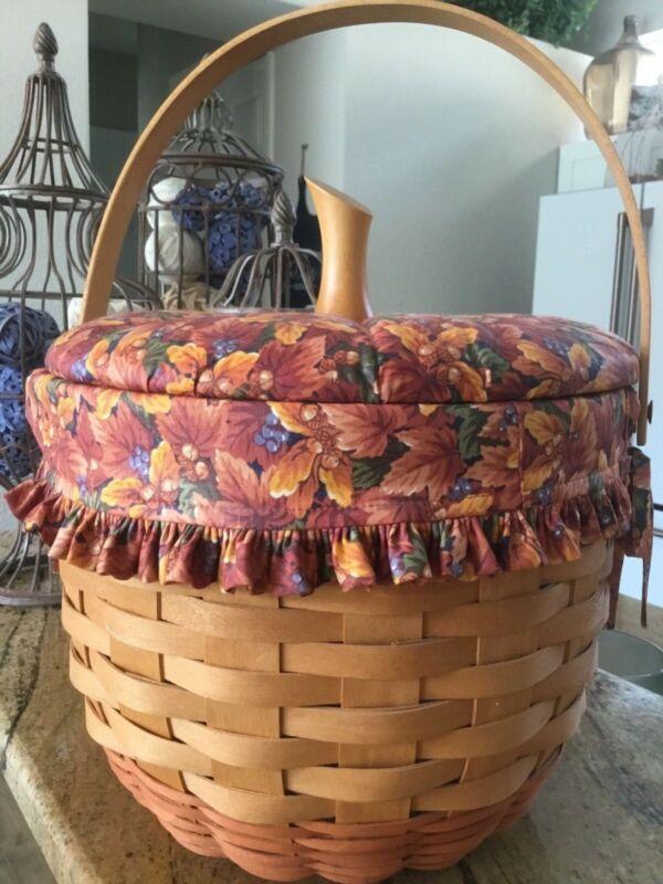 Longaberger Pumpkin Basket Large 1997 Combo