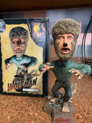 The Wolfman Headknocker NECA Universal Studios Monsters 2006 Bobblehead MIB