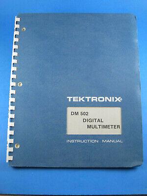 Original Tektronix Dm 502 Digital Multimeter Instruction Manual 070-1726-00