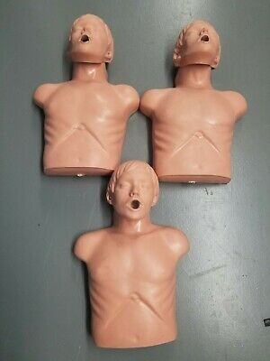 Lot Of 3 Simulaids Sani-man Adult Training Cpr Manikin Torso Nursing Emt Trainer