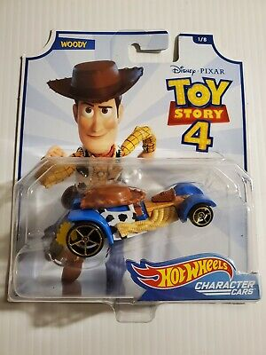 Woody Disney Pixar Toy Story 4 Character Cars Hot Wheels 1/8 Disney