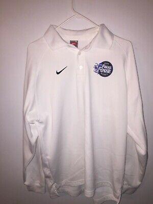 Nike Fitory Long Sleeve Polo 2009 Final Four Detroit Size Medium White