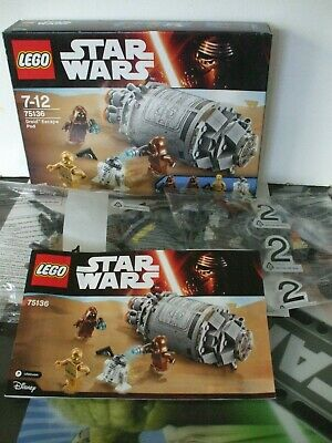LEGO STAR WARS 75136 DROID ESCAPE POD BOX OPENED BAGS STILL SEALED