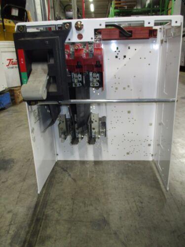 "Cutler Hammer F-2100 Series 100A 600V Fused Feeder MCC Bucket w/ 18"" Door Used"