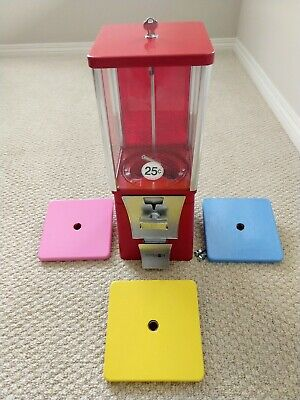 Eagle Red Bulk Vending Machine Gumball Candy Toy Refurbished Tested 1 Wheellid.