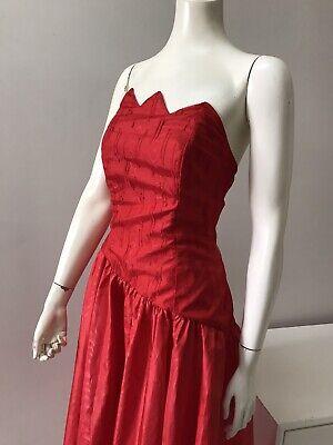 80s Dresses | Casual to Party Dresses Original Vintage 80s Dress Party Dress Red  , Asymmetrical Bust & Skirt New Wave $35.11 AT vintagedancer.com