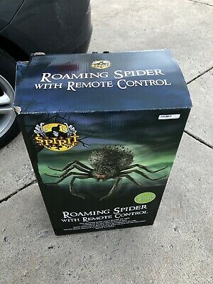 1.9 Ft Roaming Spider Animatronics With Remote Spirit Halloween Gemmy Rare Bnib
