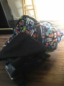 Car seat canopy + cushion for handle Kitchener / Waterloo Kitchener Area image 2