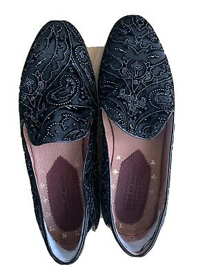 Hawk Loafer - Black Chiffon House of Hounds Men's Black Shoes Size 41