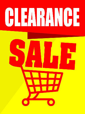 Clearance Sale Business Retail Display Sign 18w X 24h Full Color
