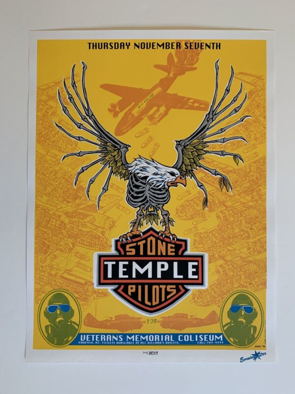 Emek Stone Temple Pilots Original Rock Concert Poster