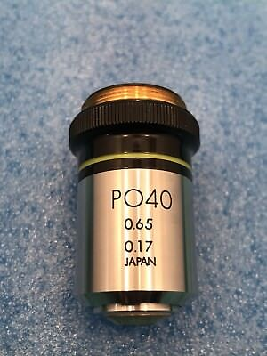 Olympus Microscope Japan Po 40x Pol Objective