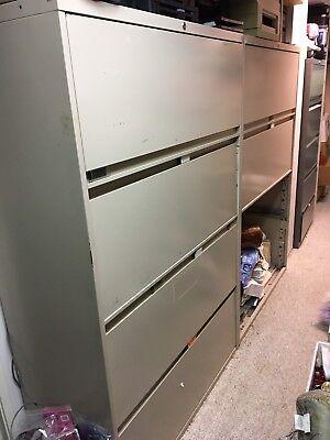 5 Drawer Heavy Duty Steelcase File Cabinet Beigetan