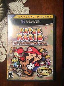 Nitendo game cube paper Mario the thousand year door