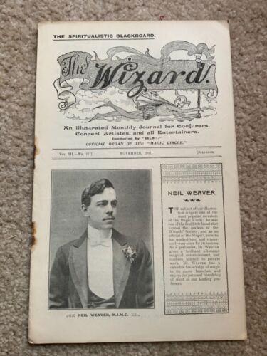 1907 The Wizard Journal Conjurers Concert Artistes  Magic Circle of London