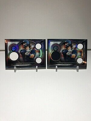 (2) 2020 TOPPS TRIBUTE DANSBY SWANSON JERSEY CARDS LOT /50 & /150 BRAVES