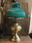 Vintage Table Lamp Glass Shade