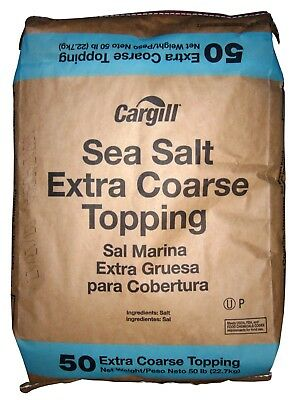 Sodium Chloride Extra Coarse Sea Salt Nacl White Solid 50 Lb Bag