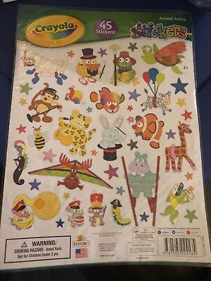45pc Animal Antics Stickers   LICENSED Crayola & Hallmark product