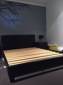 Black Leather (PU) Bedframe - Queen  Nerang Gold Coast West Preview