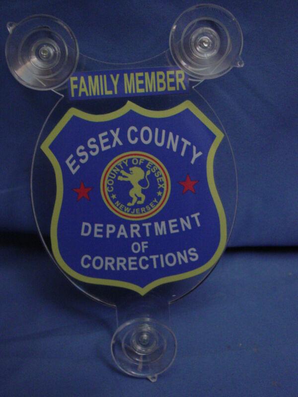 ESSEX COUNTY NJ OF DEPT.OFCORRECTION NJ  FAMILY MEMBER CAR SHIELD  PBA FOP -DOC