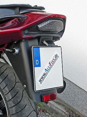 AluFixx Bike rahmenloser Motorrad Kennzeichenhalter Nummernschildhalter schwarz gebraucht kaufen  Sprockhövel
