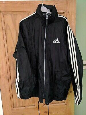 Adidas Windbreaker Jacket Size L Black - vintage 90s deadstock