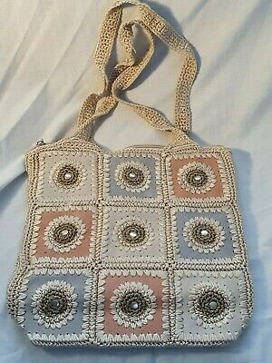 CROCHET Boho/Hippie Style Hand/Shoulder/Tote Bag - USED