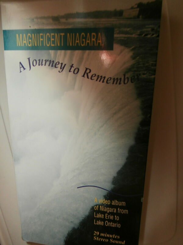"""VHS""""Magnificent Niagra:A Journey to Remember"""" c1992 Documentary"""