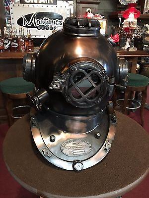 "18"" Contemporary NAVY Mark V Antique Copper Diver's Helmet ""Watch Video"""